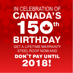Canada 150 Sale - Don't pay until 2018